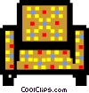 Vector Clipart graphic  of a checkered table
