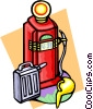 Vector Clip Art graphic  of a gas pump and can