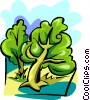 Vector Clip Art picture  of a Trees scene