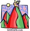 Vector Clip Art image  of a space - mountain view