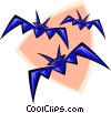 Vector Clip Art picture  of a bats - abstract