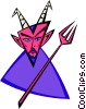 Vector Clip Art picture  of a devil - abstract