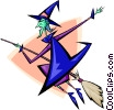 Vector Clipart illustration  of a witch- abstract