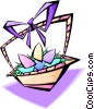 Vector Clipart graphic  of a Easter basket - abstract