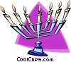 candelabra - abstract Vector Clip Art picture