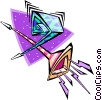 Vector Clip Art picture  of a party noisemakers - abstract