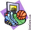 Vector Clip Art graphic  of a Basketball equipment