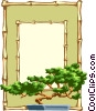 Vector Clip Art graphic  of a bonsai border