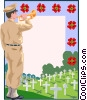 Vector Clipart image  of a Remembrance day border