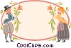 Swiss couple Vector Clip Art picture