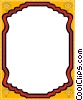 Vector Clipart picture  of a mirror border