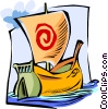Viking ship Vector Clip Art picture