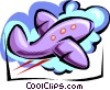 airplane - cartoon Vector Clipart illustration