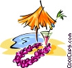 Vector Clip Art graphic  of a tropical vacation symbol