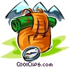 backpacking symbols two Vector Clipart illustration
