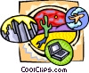 Vector Clipart picture  of a world travel symbol