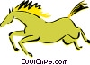 Vector Clip Art image  of a horse cave drawing