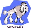 Vector Clipart illustration  of a clipped poodle