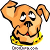 Vector Clip Art image  of a dog face