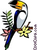 Vector Clip Art image  of a parrot