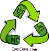 recycled disk symbol Vector Clipart picture