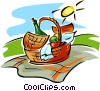 picnic hamper Vector Clipart picture