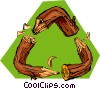 log recycling symbol Vector Clip Art picture