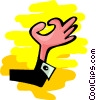 Vector Clipart illustration  of a hand making OK - abstract