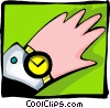 hand with watch - abstract Vector Clipart graphic