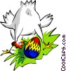 Vector Clip Art picture  of a Easter chicken and egg