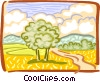 Country landscape Vector Clipart graphic