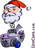 Vector Clipart graphic  of a Christmas/Santa Clause/Camera