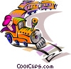 Vector Clip Art image  of a train travel