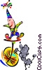Vector Clipart graphic  of a cartoon circus