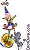 Vector Clipart graphic  of a cartoon circus
