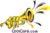 Vector Clipart picture  of a trumpet