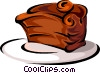 Vector Clip Art picture  of a chocolate cake