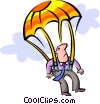 parachuting Vector Clipart graphic