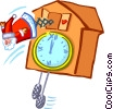Vector Clipart illustration  of a coo-coo clock