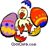 Easter chick Vector Clipart image