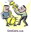 Vector Clipart image  of a Jazz musicians