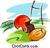 football equipment Vector Clip Art image