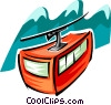 Vector Clipart graphic  of a ski tram