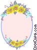 background/flowers Vector Clipart graphic