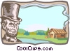 Vector Clipart image  of a background/early America