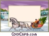 Background winter landscape Vector Clipart picture