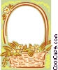 Vector Clip Art image  of a background/basket