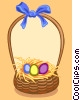 Easter basket Vector Clipart picture