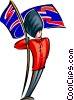British guard Vector Clip Art graphic