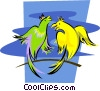 Vector Clipart image  of a birds